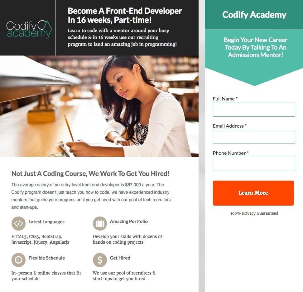 Codify Academy CRO