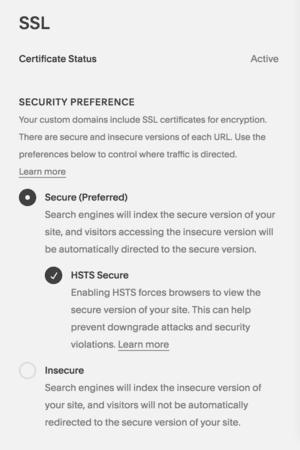 Squarespace SSL Installation