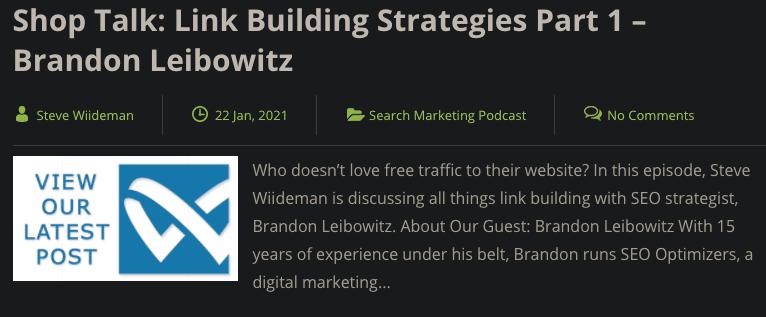 Brandon Leibowitz Wiideman Podcast