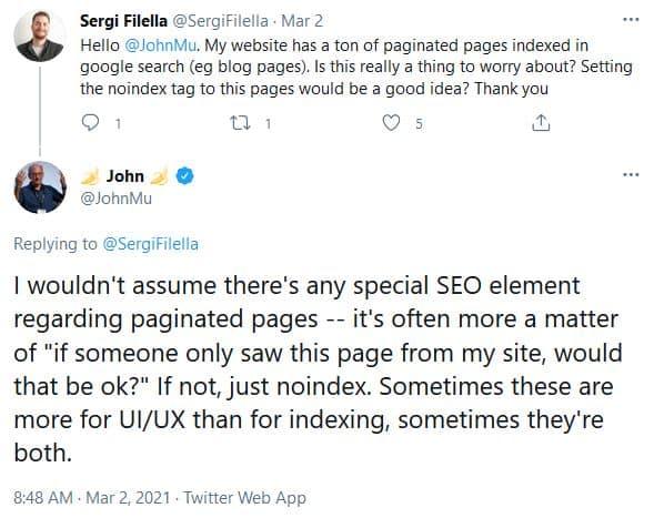 Google ignores pagination format